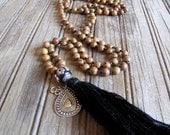 40% OFF Yoga Mala Necklace Yoga Necklace Buddhist Mala Wood Mala Meditation Beads Prayer Beads Boho Jewelry Spiritual Wellness Grounding Mal