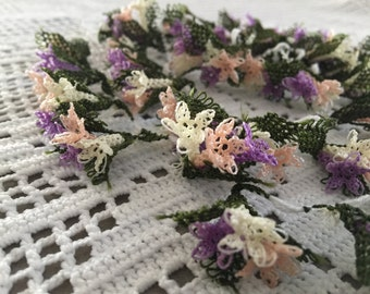 Turkish Needle Lace Oya Flowers HYACINTHS