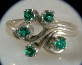 Verdant Virtue, emerald and sterling ring.