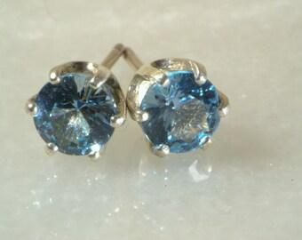 London blue topaz earrings in silver.