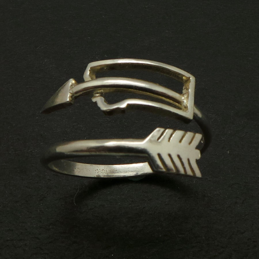 Montana state arrow ring silver montana jewelry by yhtanaff for Jewelry storm arrow ring
