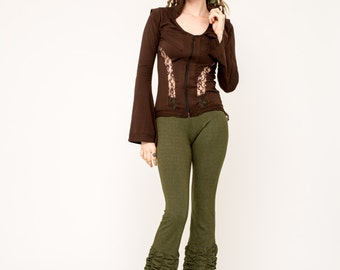 Lace Jacket- Steampunk Sweater- Lace Vest- Burlesque Vest- Lace Sweater