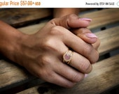 pink chalcedony ring,gold delicate ring,pink ring,gemstone ring,feminine ring,love ring,gold ring,10mm ring