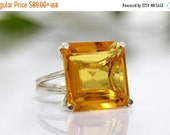 CHRISTMAS SALE - Citrine ring,silver ring,gemstone ring,semiprecious ring,birthstone ring,bridal ring,cocktail ring