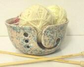Ceramic Yarn Bowl  Wide Mouth Opening - Pottery Knitting Bowl - handmade in my Charleston, SC studio