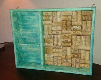 Mail Sorter/Bulletin Board/Message Center/Organization/Wine Cork Art