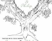 Oak Tree Wedding Invitations - Summer Wedding Invitation - Sage and Black - Custom Listing for laurahebert92
