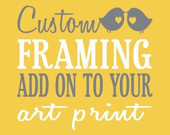 Custom Framing Upgrade for Family Art Prints