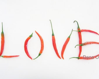 """Hot Pepper """"Love"""" 5x7"""" Fine Art Photography"""