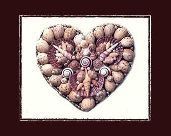 Sea Shell Heart Wall Plague, Beach/Coastal/Nautical Decor, Wedding/Anniversary/Housewarming/Birthday Gift, Wall Decor