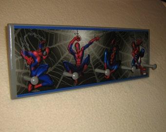 Kid's corner coat rack ( Spiderman )