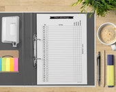Monthly Blog Planner Promotional Printable