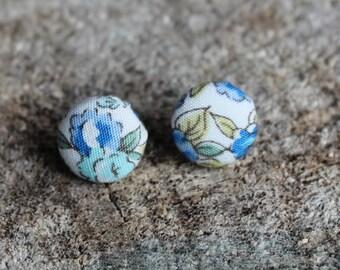 Boucle en tissu fleuri (BO-1059)