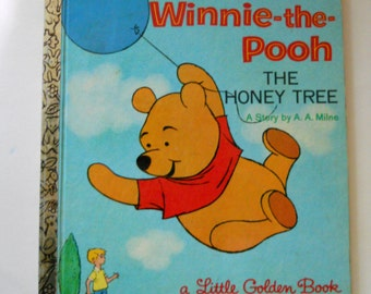 Vintage Winnie the Pooh Book - Little Golden Book - The Honey Tree -Walt Disney Storybook - 1965
