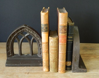 Antique Gothic Bookends.