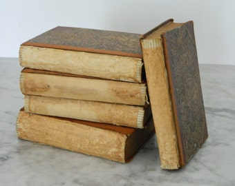 Set of Antique Bare Books. The Decline and Fall of the Roman Empire. Circa 1880. Instant Library. Cottage Decor.