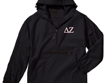 Delta Zeta Unlined Anorak (Black)