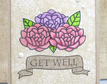 Friend Get Well Card- Friend Card- Encouragement Card- Thinking of You - Feel Better Soon