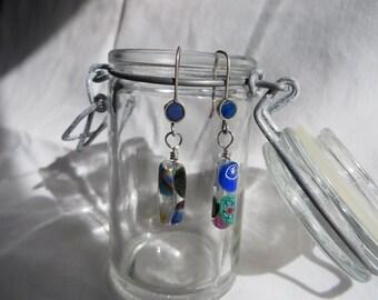 Glass Dangle Earrings, earrings, dangle, glass