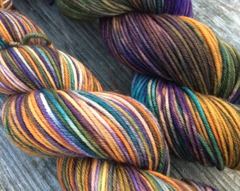 Hand Painted Yarn, Hand Dyed Yarn, DK Weight