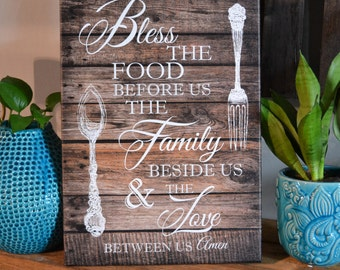 "14 x 20 Inch ""Farmhouse Dinner Prayer"""