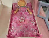 Slumber Bed Mattress- Little Tikes Dollhouse- Fits Vintage and Grandparents House- flowers