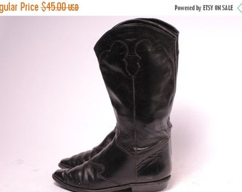 30% OFF Black Cowboy Boot Size 6.5M womens
