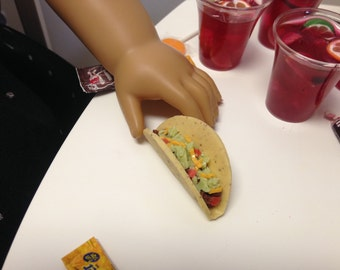 "18"" Doll Food Cinco de Mayo Taco with Beef, Tomatoes, Lettuce, and Cheese"