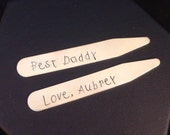 Best Daddy Personalized Collar Stays | Father's Day Gift | Personalized Dad Gift