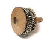 """Vintage Latin Percussion LP 5 1/4"""" Afuche Cabasa, Wood, steel, New Jersey, M  Cohen"""