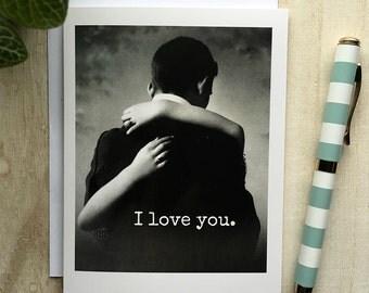 Card #180 - I Love You - Blank Inside Valentine Greeting