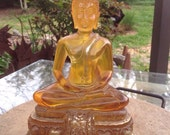 Vintage Golden Buddha Statue for Meditation