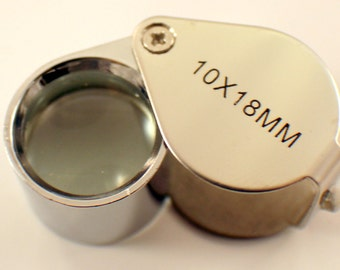 Jewelers Loop Loupe 10X Magnification 18MM Glass Lens New