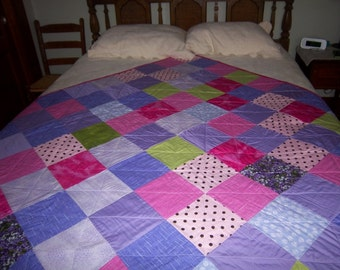Pink, Lavendar and Green Quilt