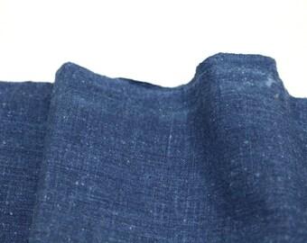 Japanese Artisan Indigo Cotton. Hand Loomed Japanese Aizome Textile. (Ref: 103)