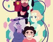 Crystal Gems - Steven Universe A4 Art Print