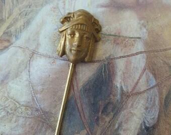 Vintage Brass rare Figural Stick Pin
