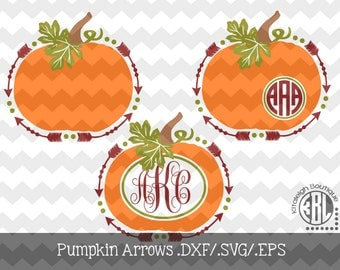 Pumpkin Arrows INSTANT DOWNLOAD dxf/svg/eps for use with programs such as SilhouetteStudio and Cricut Design Space