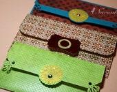 Handmade Cash Envelope or Gift card holder with velcro closure- Set of 3, Wedding, Eid money, Baby Shower-Reserved for Navneet