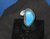 Turquoise Ring Kidney Shaped size 6 reserved Shaun