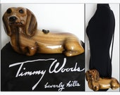 Timmy Woods Handbag// Dachshund//Tags Attached//Dog//Shoulder Bag//Doxie//Weiner Dog//Dust Cover