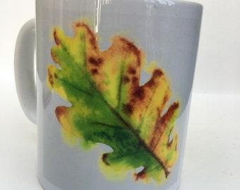 Colourful Autumn- Quercus Tilia 10oz ceramic mug