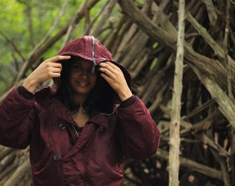 1990s N-2B Parka - Rare Merlot color - made in the USA by Alpha Industries - Tagged Medium - Unisex styling