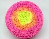 Flamingo Flambé gradient sock yarn