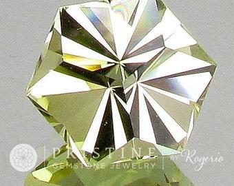 Citrine Precision Cut Hexagonal Gemstone November Birthstone for Fine Gemstone Pendant