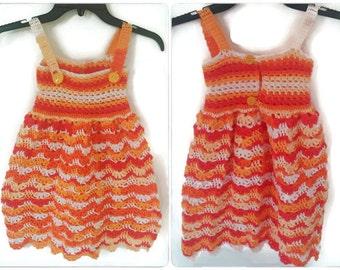 Crochet Toddler Dress, 3-5 Years, Crochet Summer Dress, Colorful Crochet Dress, Crochet Dress