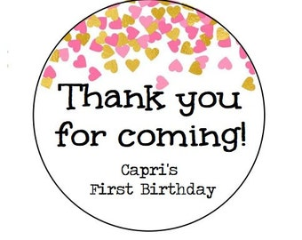 """CUSTOM 2"""" Birthday Customizable -Made with Love - Favor -KRAFT or WHITE - round/circle seals/Stickers/labels - fits mason jar"""