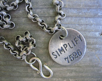 SIMPLIFY Hippie jewelry silver pendant necklace lovely heavy chain
