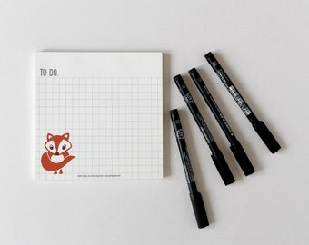 Notepad Fox, Notepads, to do lists, to do list, kids schedule, daily organizer, Stocking Stuffer, Filler, christmas countdown, productivity