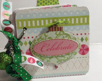 Christmas scrapbook premade pages chipboard premade pages santa mini album joy snowflakes